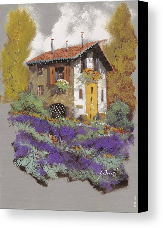 Landscape Canvas Print featuring the painting Cento Lavande by Guido Borelli