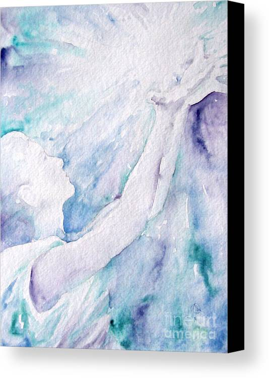 People Canvas Print featuring the painting Give And Receive by Jennifer Apffel