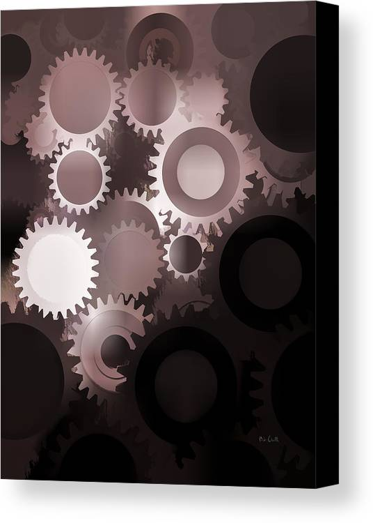 Gears Canvas Print featuring the photograph Mojo Synchronicity by Bob Orsillo