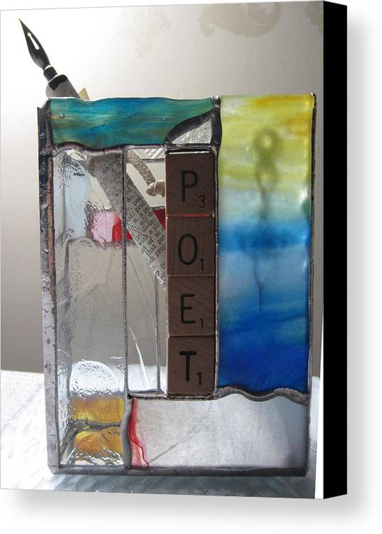 Canvas Print featuring the painting Poet Windowsill Box by Karin Thue