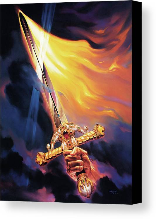 Jeff Haynie Canvas Print featuring the painting Sword Of The Spirit by Jeff Haynie