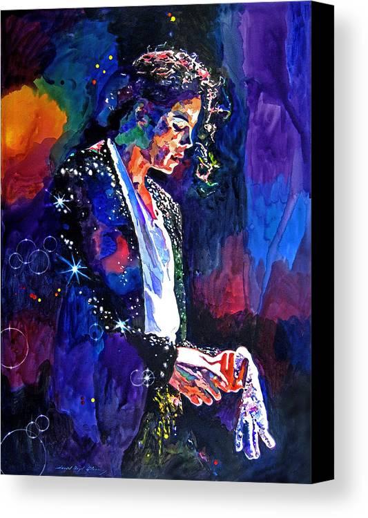 Michael Jackson Canvas Print featuring the painting The Final Performance - Michael Jackson by David Lloyd Glover