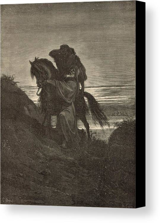 Biblical Canvas Print featuring the drawing The Good Samaritan by Antique Engravings