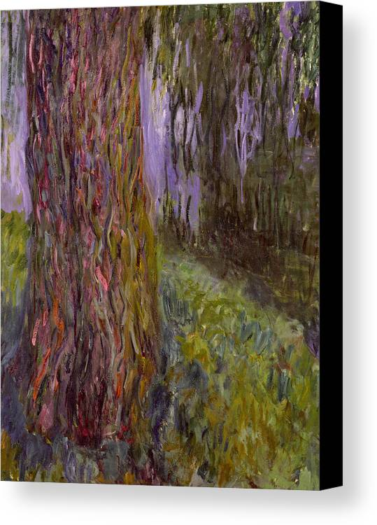 Waterlilies Canvas Print featuring the painting Weeping Willow And The Waterlily Pond by Claude Monet