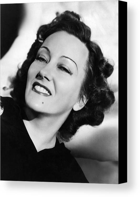 11x14lg Canvas Print featuring the photograph Gloria Swanson, Ca. Early 1940s by Everett