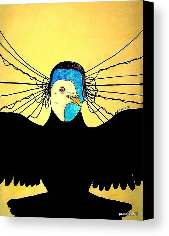 Interpret Signs Canvas Print featuring the digital art Hidden Face Of Prisons by Paulo Zerbato