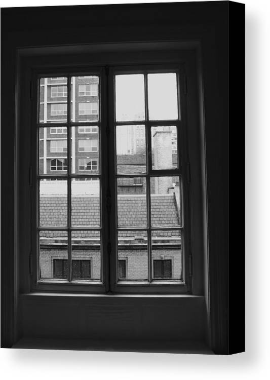Window Canvas Print featuring the photograph Lots Of Lines by Anna Villarreal Garbis