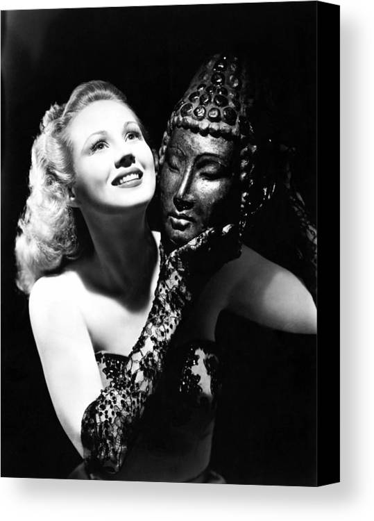1940s Portraits Canvas Print featuring the photograph Virginia Mayo, Ca. Early 1940s by Everett