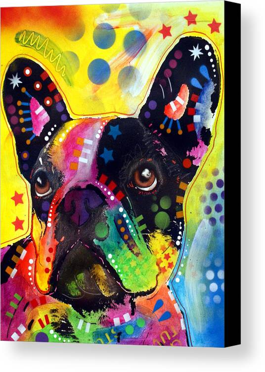 French Bulldog Canvas Print featuring the painting French Bulldog by Dean Russo