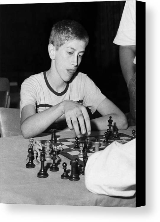 1950s Portraits Canvas Print featuring the photograph Bobby Fischer, Circa 1957 by Everett