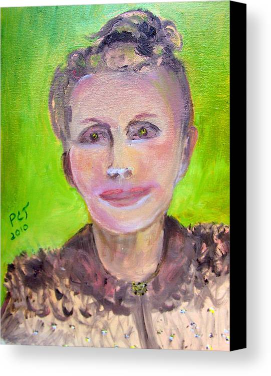 Woman Canvas Print featuring the painting Great Grandmother Adora by Patricia Taylor