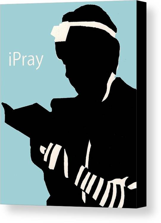 Apple Canvas Print featuring the digital art Ipray by Anshie Kagan