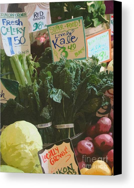 Kale Canvas Print featuring the photograph Lovely Kale by Lydia L Kramer