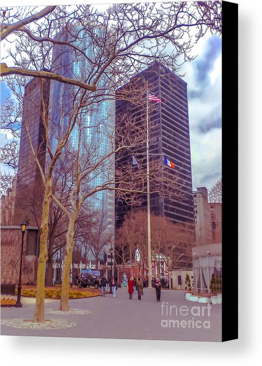 Urban Canvas Print featuring the photograph Manhattan by Claudia M Photography