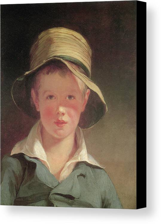 Thomas Sully Canvas Print featuring the painting The Torn Hat by Thomas Sully