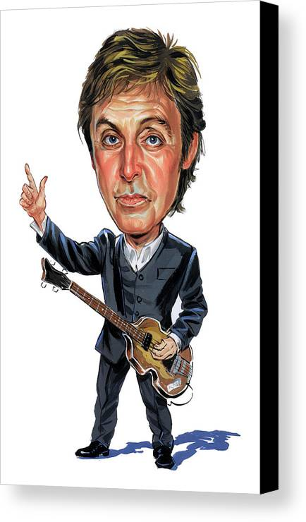 Paul Mccartney Canvas Print featuring the painting Paul Mccartney by Art