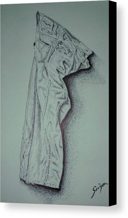 Pants Canvas Print featuring the drawing Fac Fidelis by SAIGON De Manila