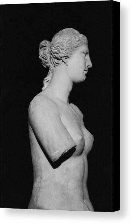 Venus De Milo Canvas Print featuring the photograph Venus De Milo by Greek School