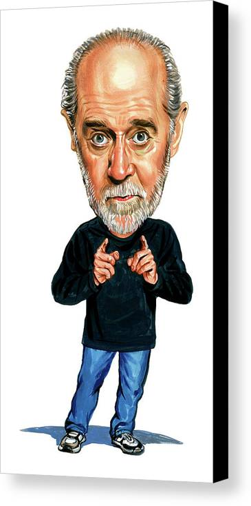George Carlin Canvas Print featuring the painting George Carlin by Art