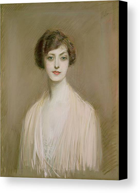 Portrait Canvas Print featuring the painting An American by Paul Cesar Helleu
