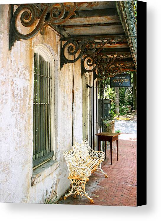 Savannah Canvas Print featuring the photograph Antique Savannah by William Dey