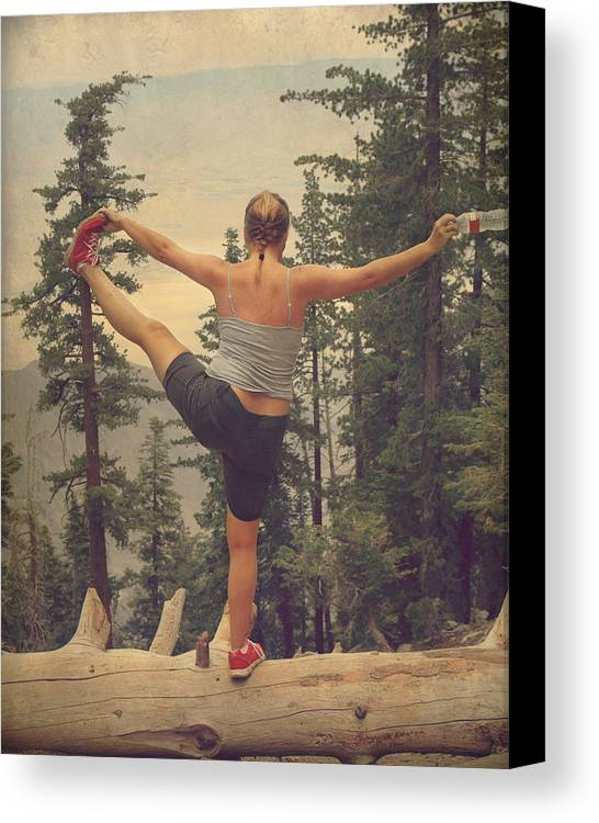 Woman Canvas Print featuring the photograph Mindbody by Laurie Search