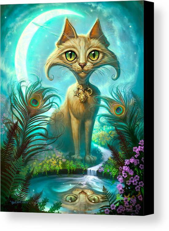 Jeff Haynie Canvas Print featuring the painting Reflections by Jeff Haynie