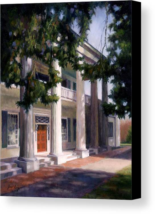 Architecture Canvas Print featuring the painting The Hermitage by Janet King
