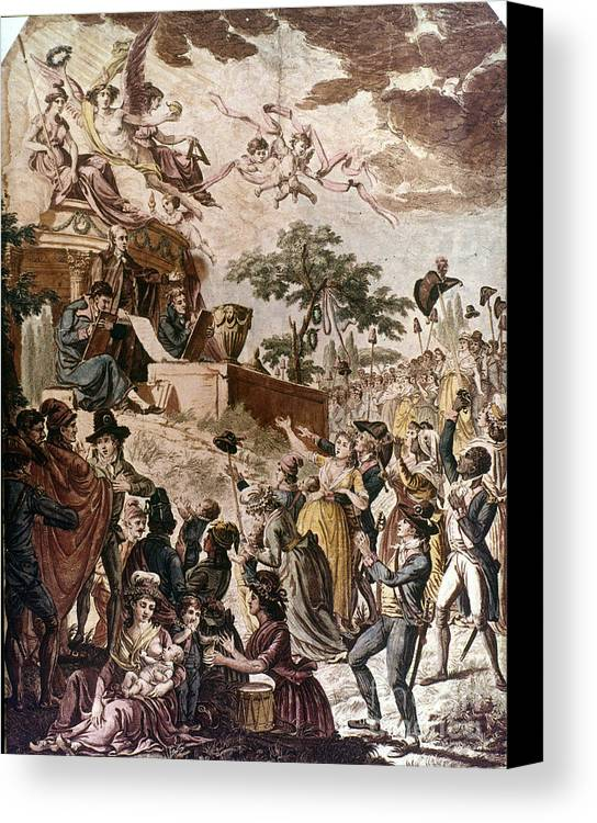 1794 Canvas Print featuring the photograph Abolition Of Slavery, 1794 by Granger