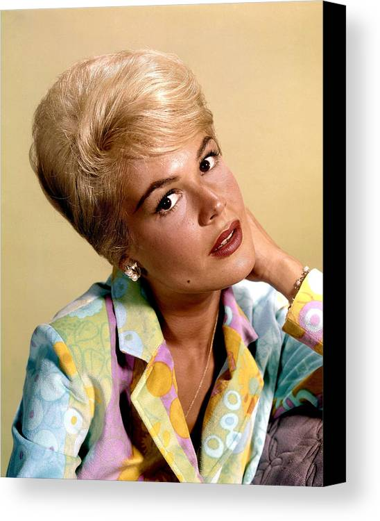 1960s Hairstyles Canvas Print featuring the photograph Sandra Dee, Ca. Early 1960s by Everett