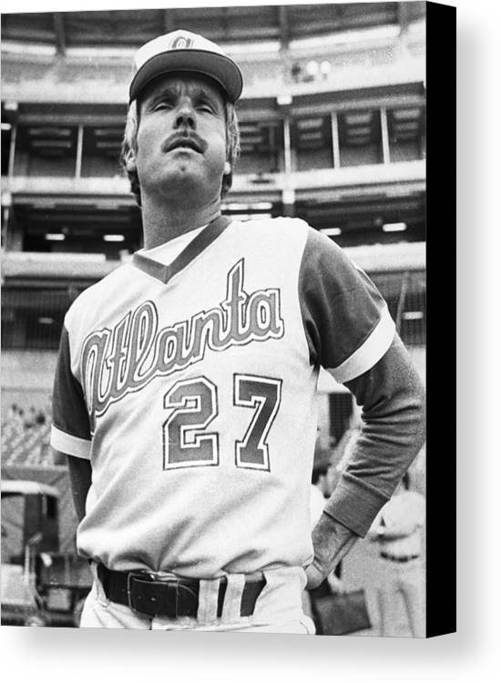 1977 Canvas Print featuring the photograph Ted Turner (1938- ) by Granger