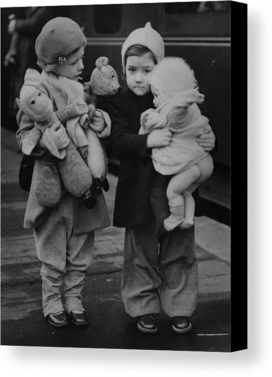 4-5 Years Canvas Print featuring the photograph Toy Luggage by Keystone