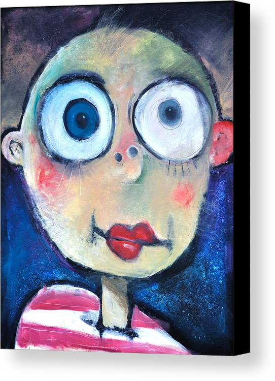 Child Canvas Print featuring the painting As A Child by Tim Nyberg