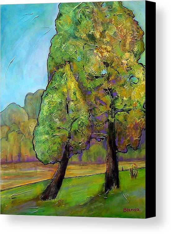 Tree Canvas Print featuring the painting Beloved One by Blenda Studio