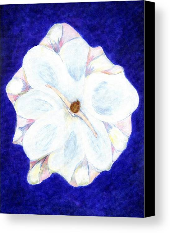 Abstract Canvas Print featuring the painting Flower Princess - Www.jennifer-d-art.com by Jennifer Skalecke