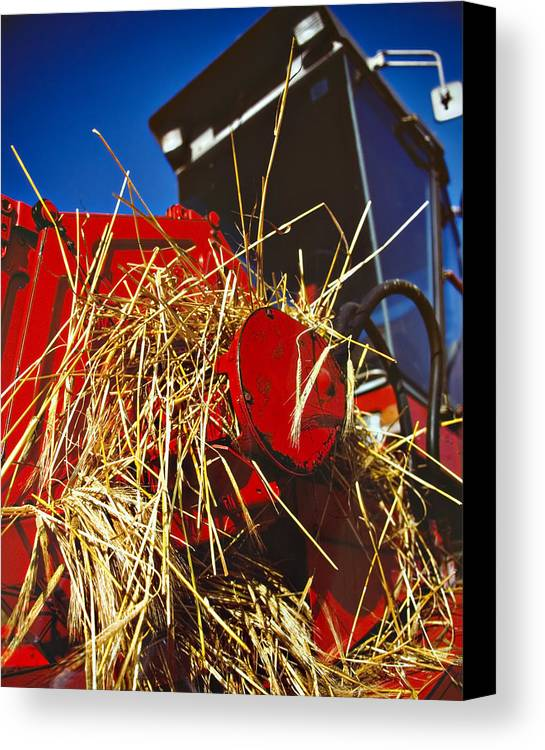 Combine Canvas Print featuring the photograph Harvesting by Meirion Matthias