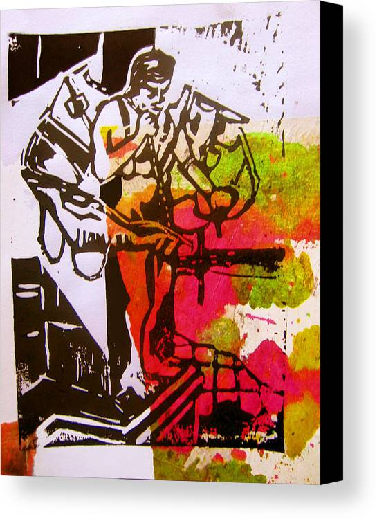 Lino Canvas Print featuring the mixed media icarus II by Adam Kissel