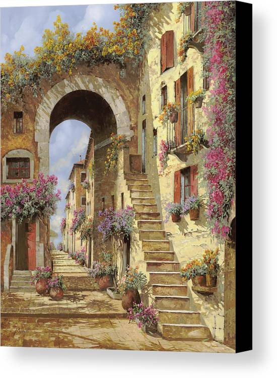 Landscape Canvas Print featuring the painting Le Scale E Un Arco by Guido Borelli