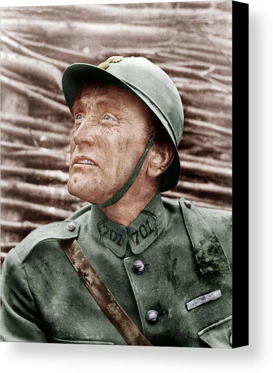 1950s Portraits Canvas Print featuring the photograph Paths Of Glory, Kirk Douglas, 1957 by Everett