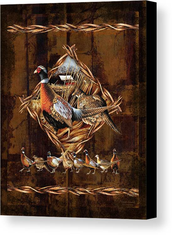 Wildlife Canvas Print featuring the painting Pheasant Lodge by JQ Licensing