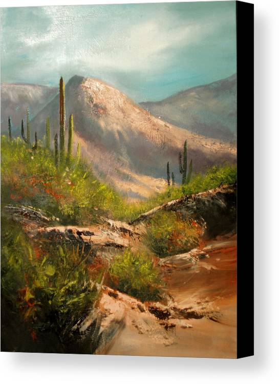 Landscape Canvas Print featuring the painting Southwest Beauty by Robert Carver