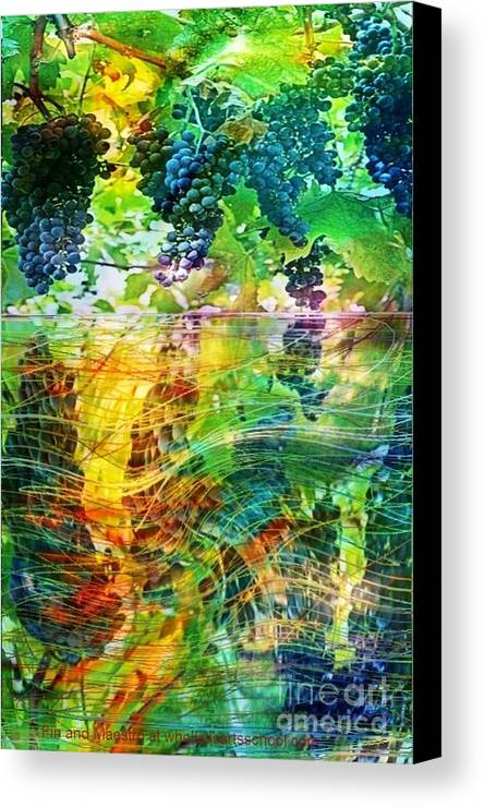 Wine Canvas Print featuring the painting Ripened Vines by PainterArtist FIN