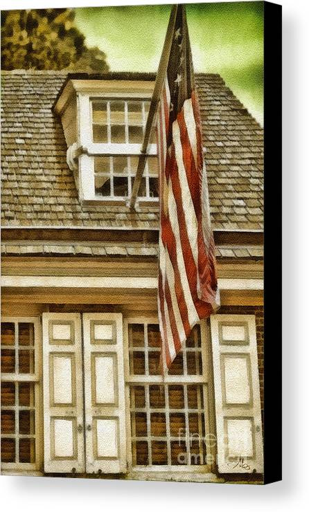 Stars And Tripes Canvas Print featuring the painting Stars And Stripes by Mo T