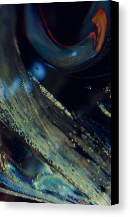 Glass Canvas Print featuring the photograph Watchful by Gaby Tench