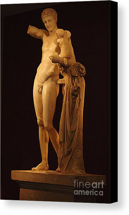 Hermes And The Infant Canvas Print featuring the photograph Hermes And The Infant by Bob Christopher