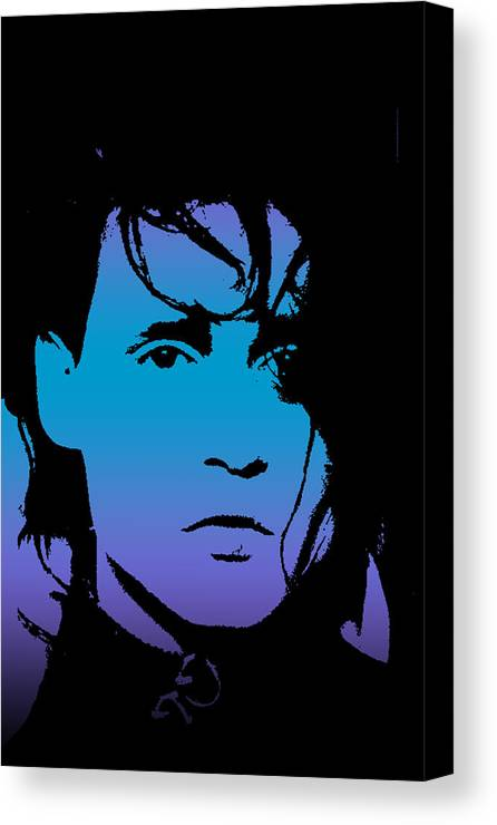 Johnny Canvas Print featuring the digital art Johnny As Edward by Jera Sky
