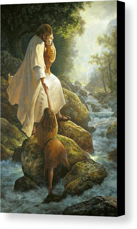 Jesus Canvas Print featuring the painting Be Not Afraid by Greg Olsen