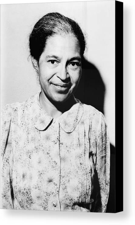 History Canvas Print featuring the photograph Rosa Parks Was A Member Of The Naacp by Everett