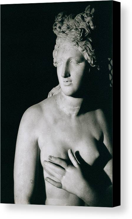 Venus Pudica (marble) Canvas Print featuring the photograph Venus Pudica by Unknown