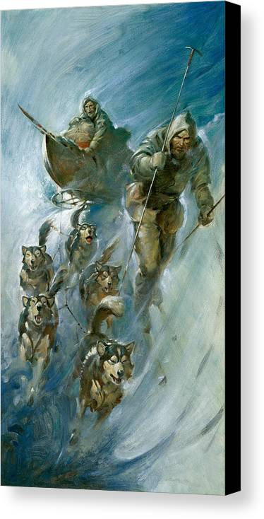 Nansen Canvas Print featuring the painting Nansen Conqueror Of The Arctic Ice by James Edwin McConnell